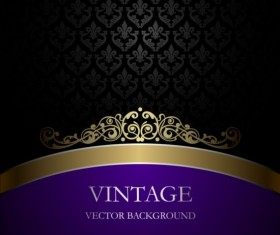 Purple with black vintage background vector