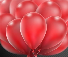 Realistic red balloons vector illustration 10