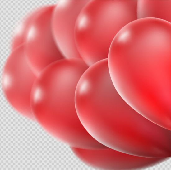Realistic red balloons vector illustration 13