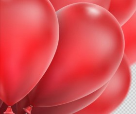 Realistic red balloons vector illustration 14