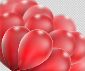 Realistic red balloons vector illustration 16