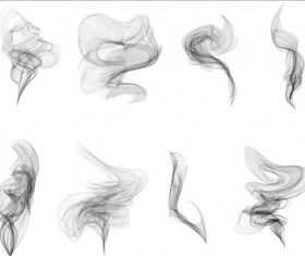 Realistic smoke illustration vector set 01