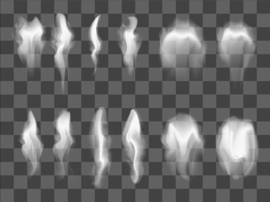 realistic smoke illustration vector set 02