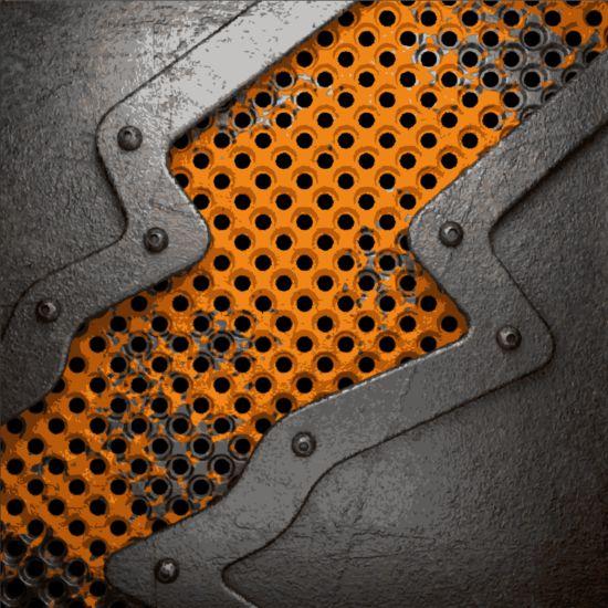 Rust metallic retor background vector 07