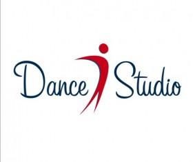 Set of dance studio logos design vector 01