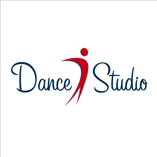 set of dance studio logos design vector 01 free download rh freedesignfile com dance studio logo design dance studio logo ideas