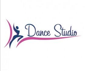 Set of dance studio logos design vector 02