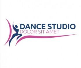 Set of dance studio logos design vector 03