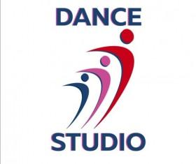 Set of dance studio logos design vector 04