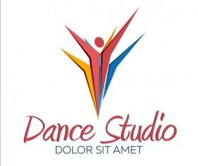Set of dance studio logos design vector 05