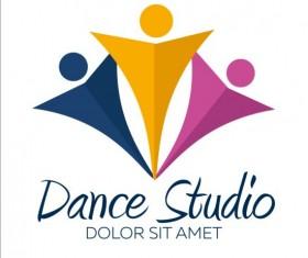 Set of dance studio logos design vector 06