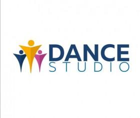 Set of dance studio logos design vector 07