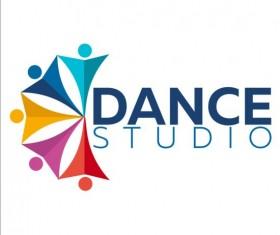Set of dance studio logos design vector 08