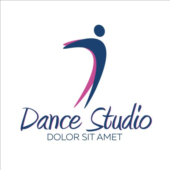 Set of dance studio logos design vector 10