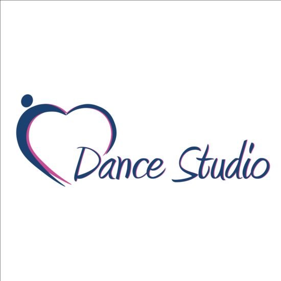 set of dance studio logos design vector 14 free download rh freedesignfile com dance studio logo psd dance studio logo ideas
