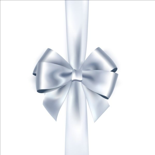 Silver ribbon bows vector 02 vector ribbon free download