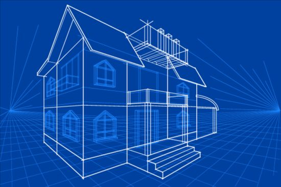 Simple blueprint building vectors design 01 vector architecture simple blueprint building vectors design 01 malvernweather Images