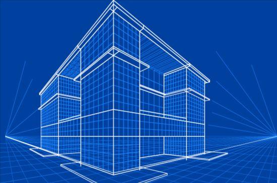 Simple blueprint building vectors design 09 free download for Blueprint builder