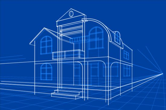 Simple blueprint building vectors design 15 vector architecture simple blueprint building vectors design 15 malvernweather Image collections