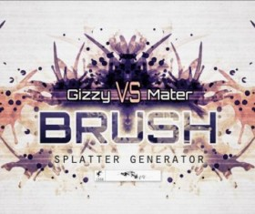 Splatter generator photoshop brushes