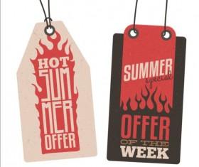 Summer sale label set vectors 05