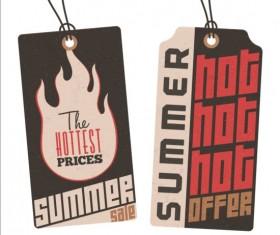 Summer sale label set vectors 06