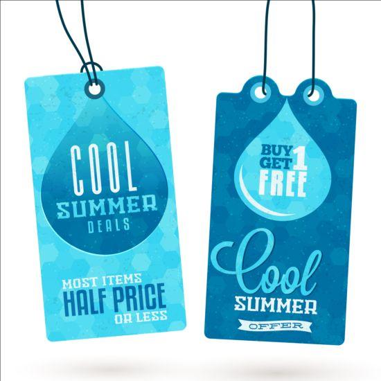Summer sale label set vectors 07