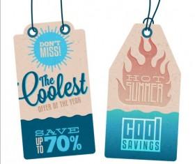 Summer sale label set vectors 08