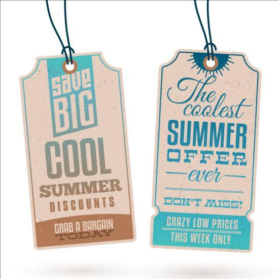Summer sale label set vectors 09