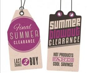 Summer sale label set vectors 10