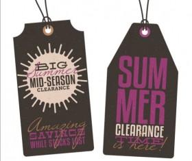 Summer sale label set vectors 11