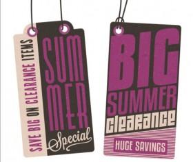 Summer sale label set vectors 12