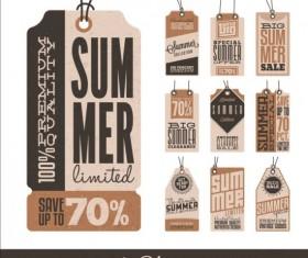 Summer sale label set vectors 13