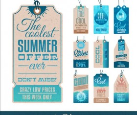 Summer sale label set vectors 14