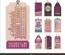 Summer sale label set vectors 15