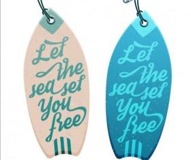 Summer surf label vector