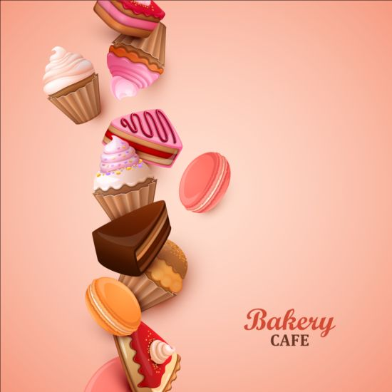 Sweet Candy Art Background Vector 06
