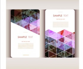Triangle with grunge styles business card vector 04