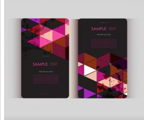 Triangle with grunge styles business card vector 10