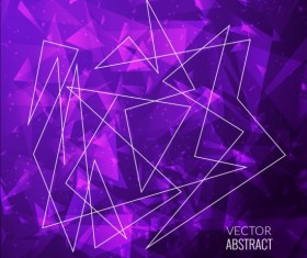 Triangles with purple background vector