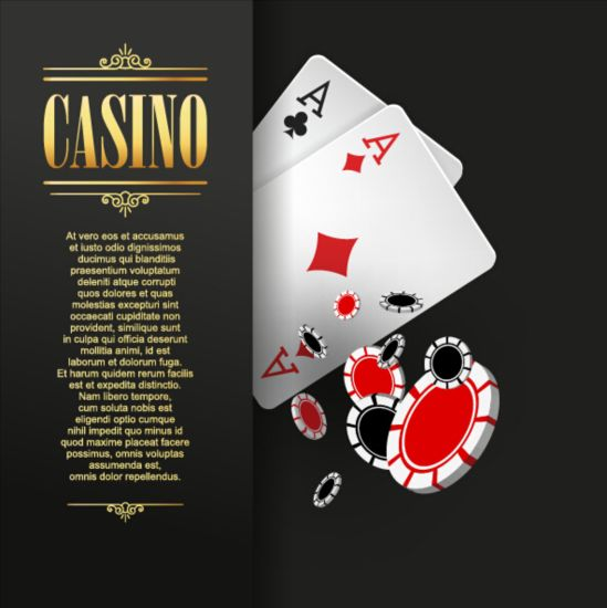 Vector casino games background graphic 03