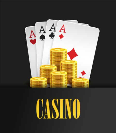 Vector casino games background graphic 07