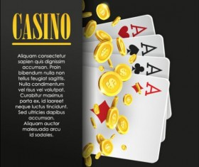 Vector casino games background graphic 14
