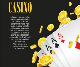 Vector casino games background graphic 15