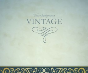 Vintage decor art background vector