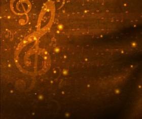 Vintage musical note background vectors