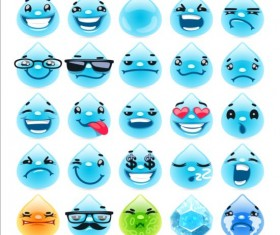 Water drop face expression vector