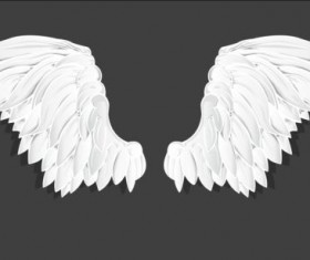 White wings vector material 02