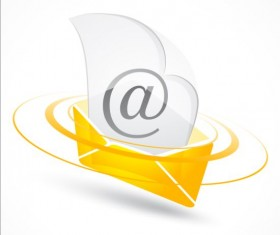 Yellow email iocn vector