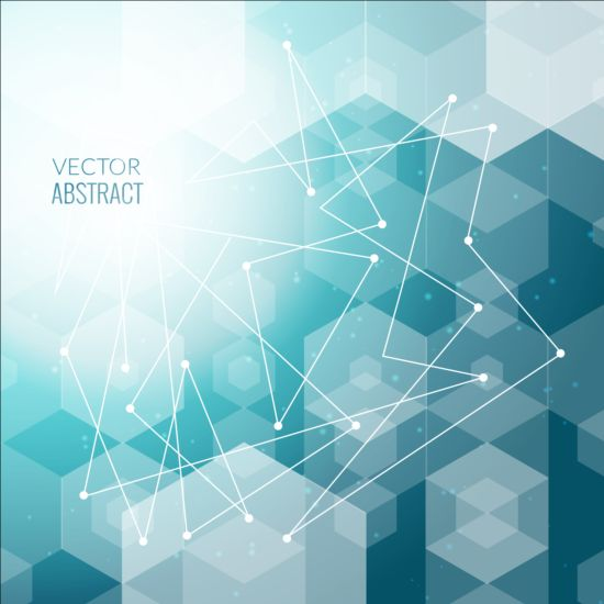 Hexagon With Tech Background Vector